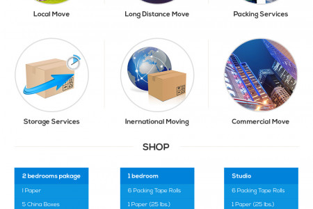 Moving Company Prices Infographic
