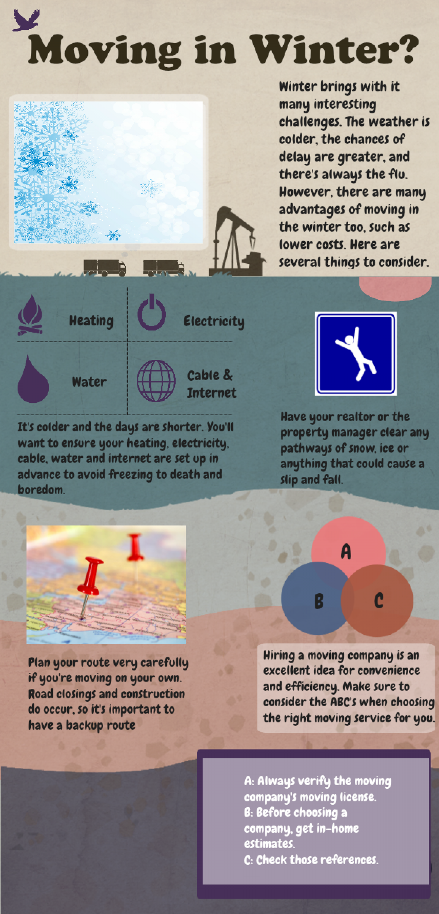 Moving in Winter?  Infographic