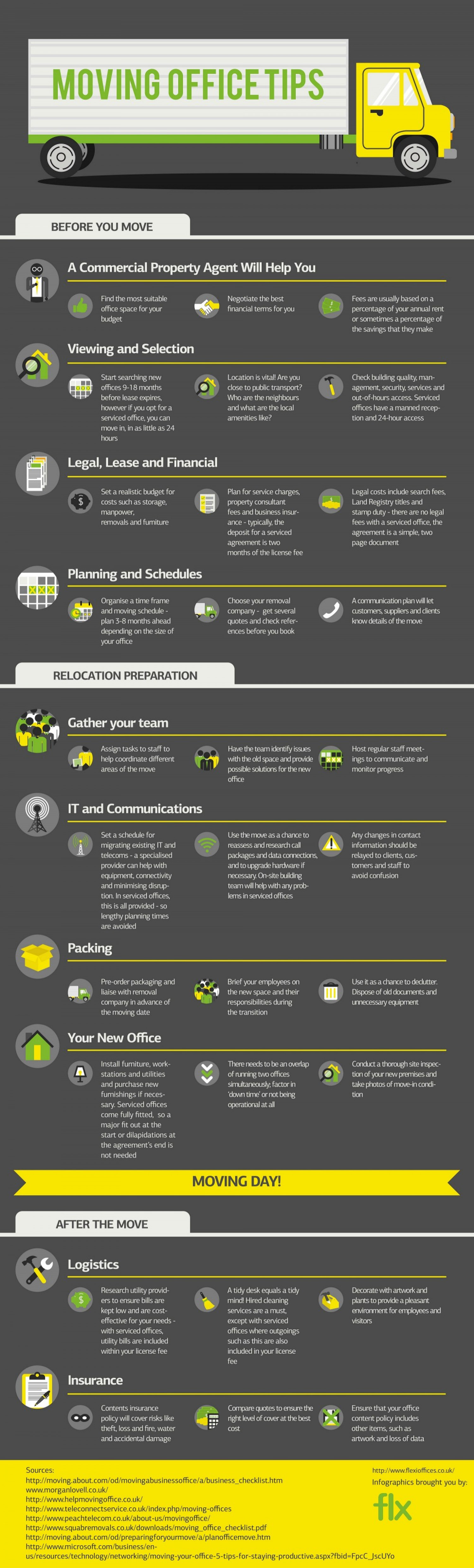Moving Office Tips Infographic