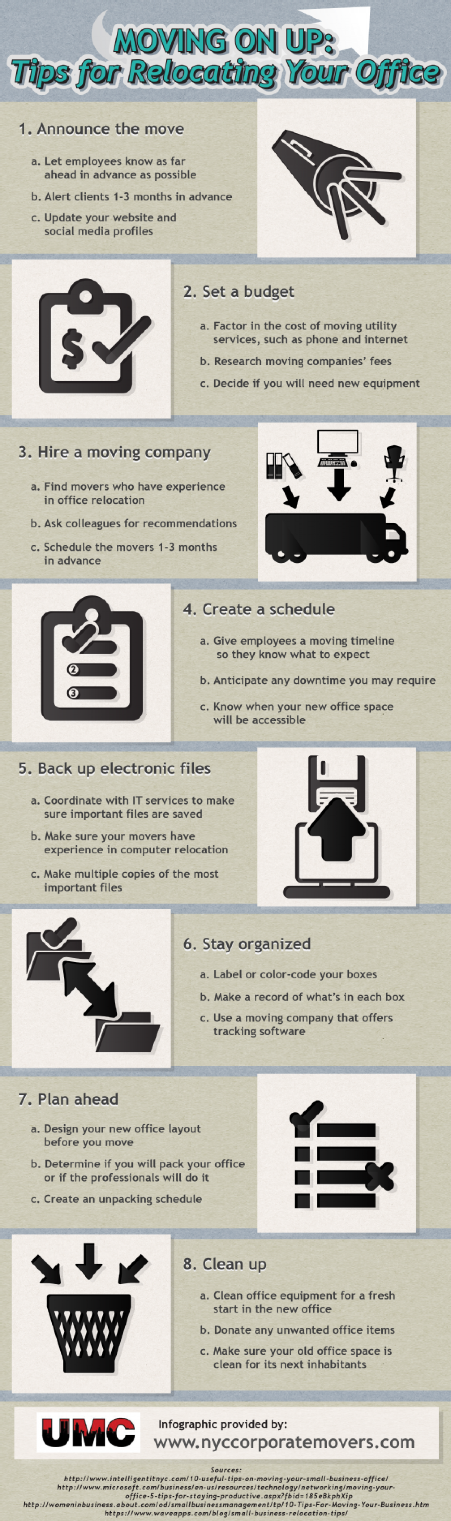 Moving On Up: Tips for Relocating Your Office  Infographic
