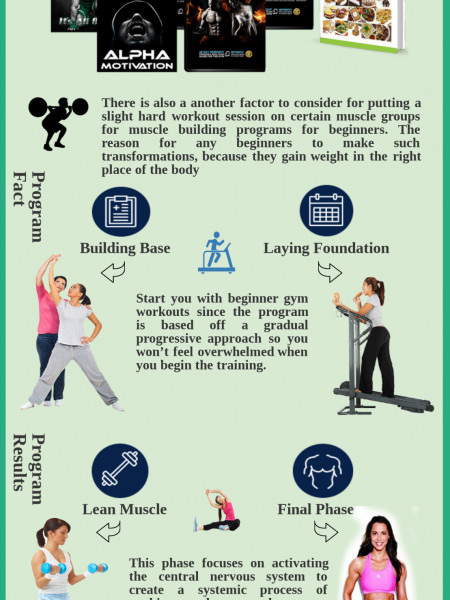 Muscle Building Programs For Fitness Infographic