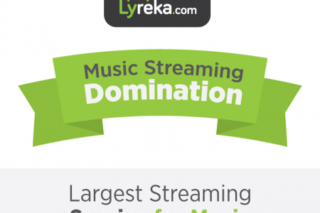 Music Streaming Competitive Analysis & Statistics Infographic