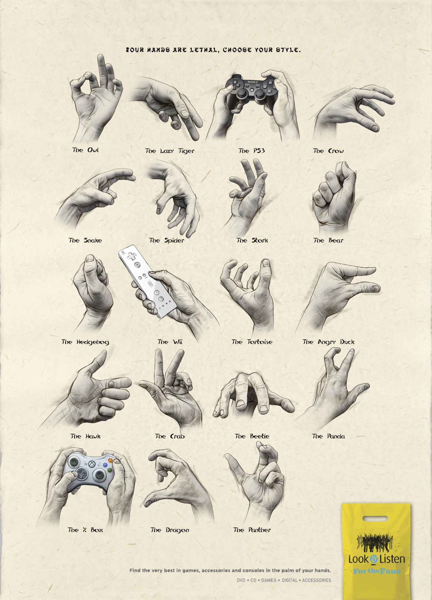 Your Hands Are Lethal, Choose Your Style Infographic