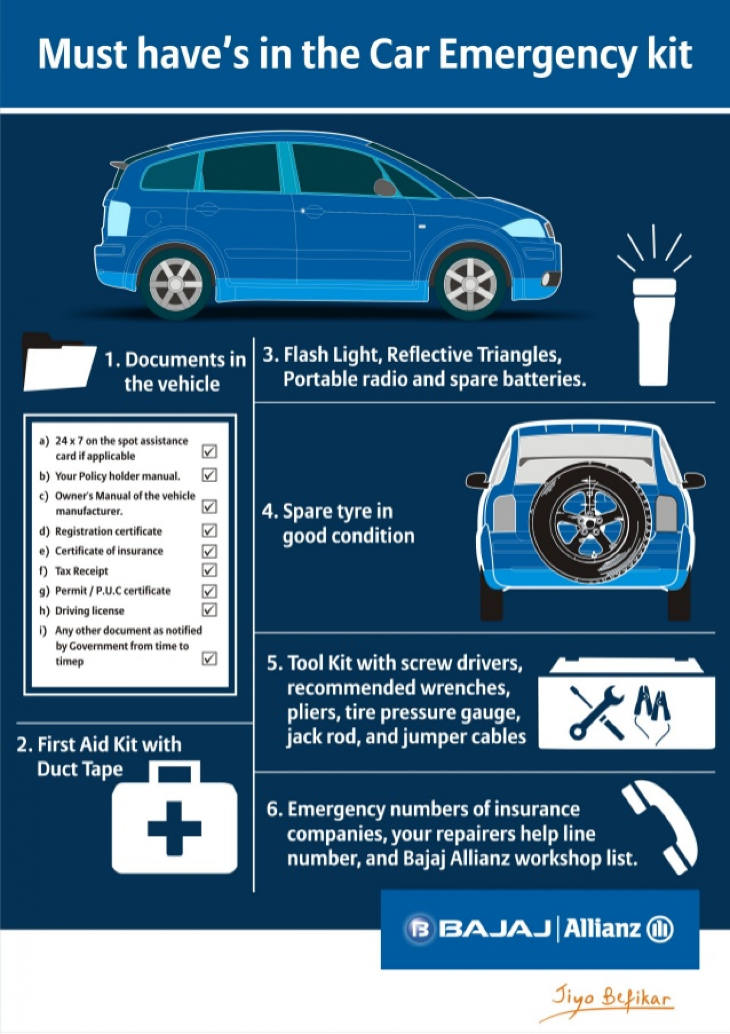 Must Haves in Your Car Emergency Kit Infographic