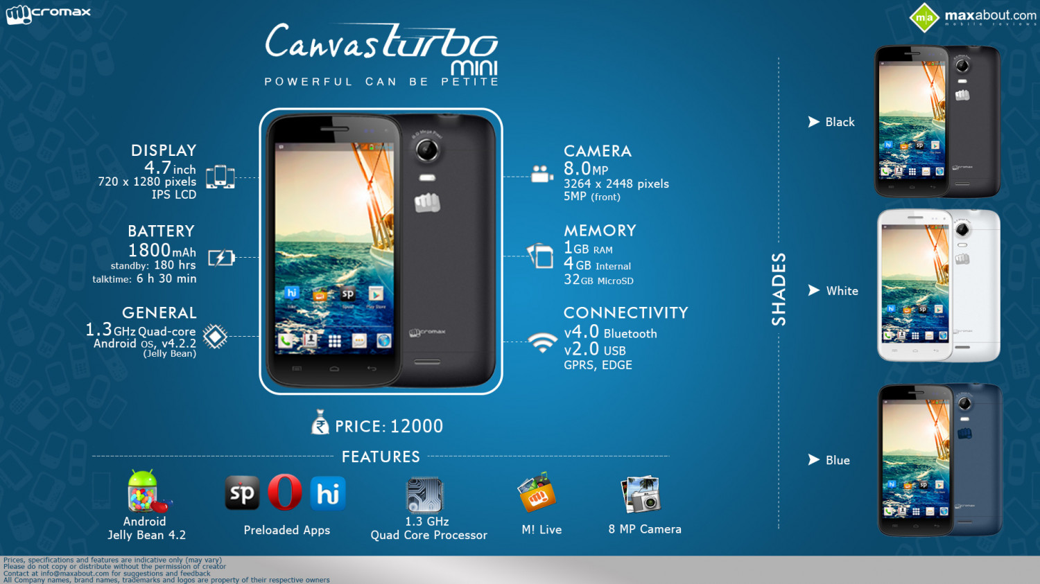 Must Know Facts about Micromax Canvas Turbo Mini A200 Infographic