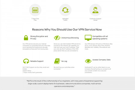 Myip.io: The Reasons why you should use our VPN Services Infographic