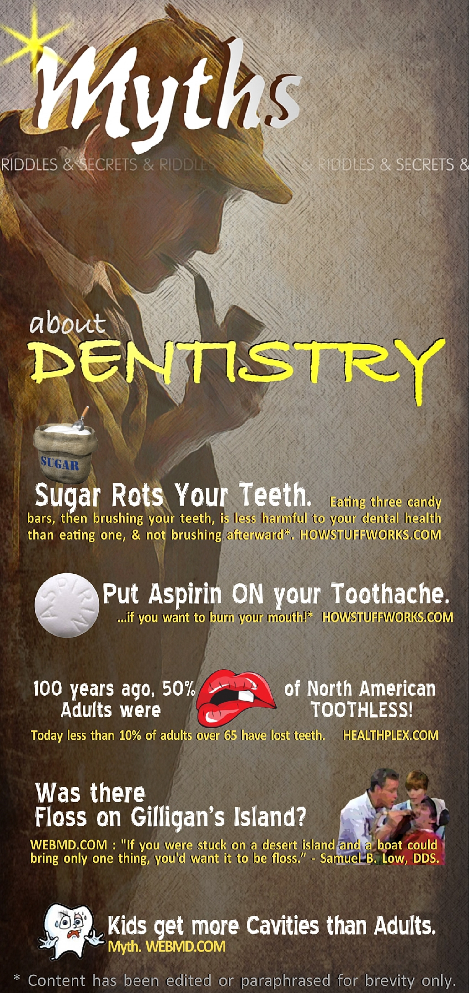 Myths about Dentistry Infographic