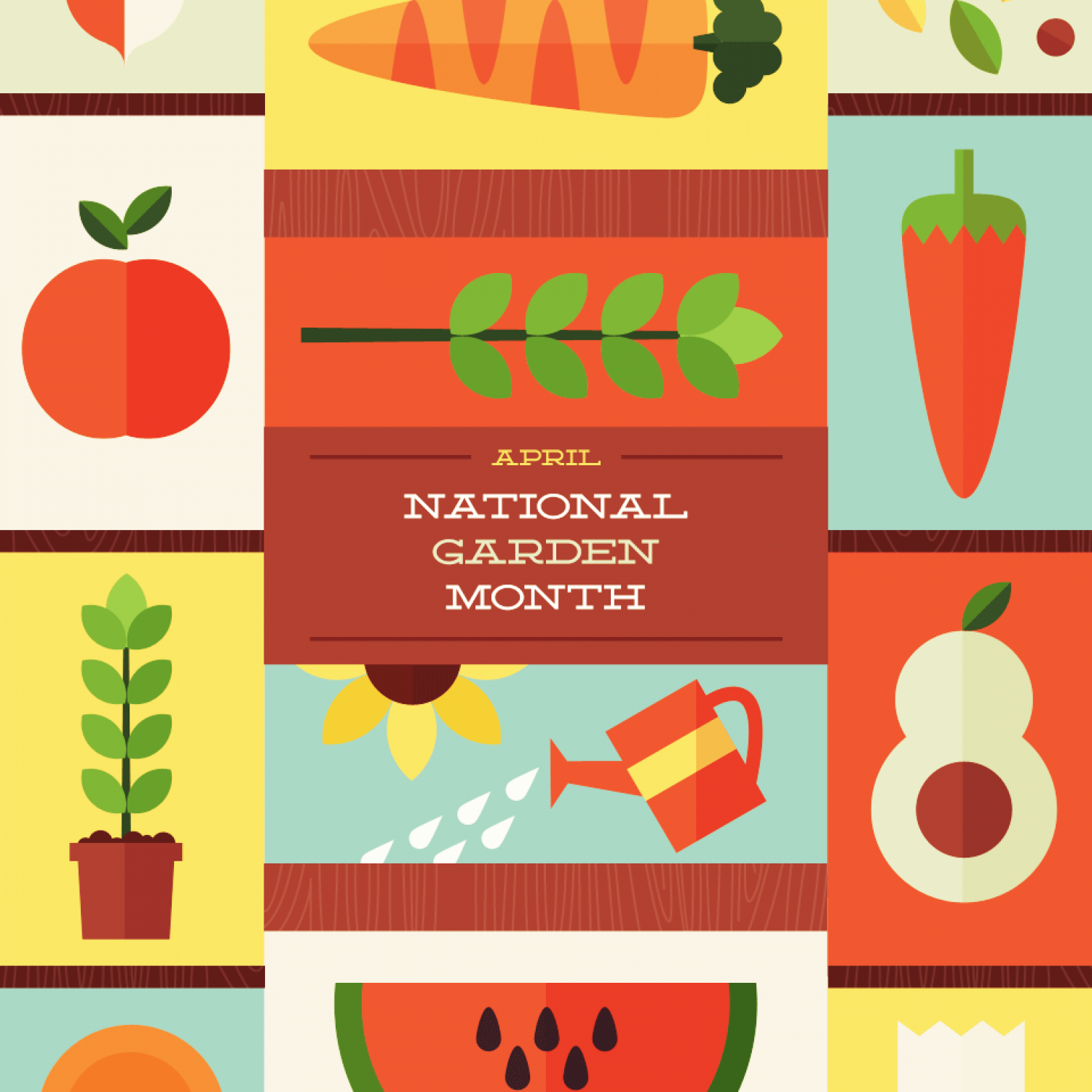 National Gardening Month Infographic