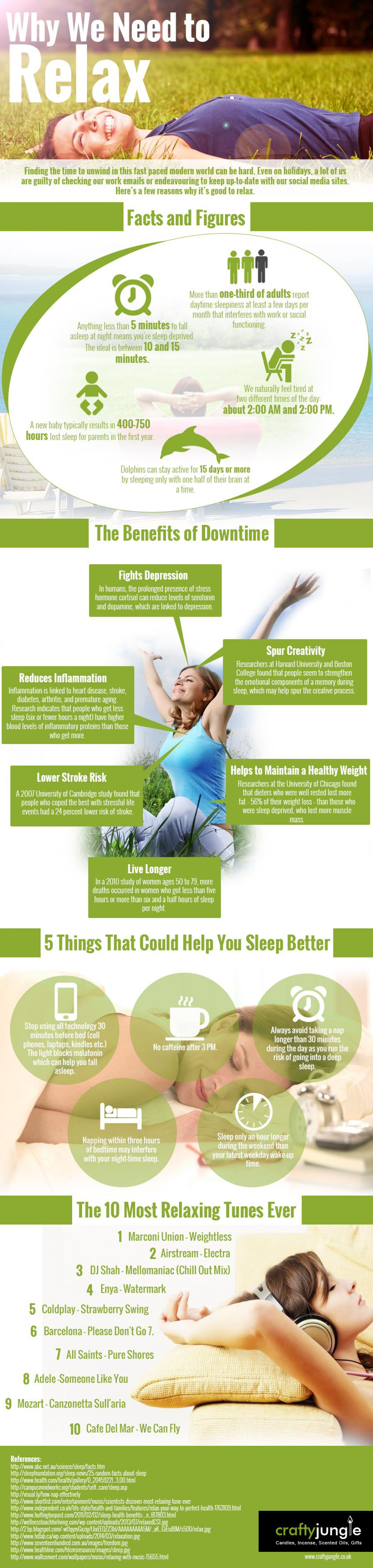 National Relaxation Day August 15th -Infographic  Infographic