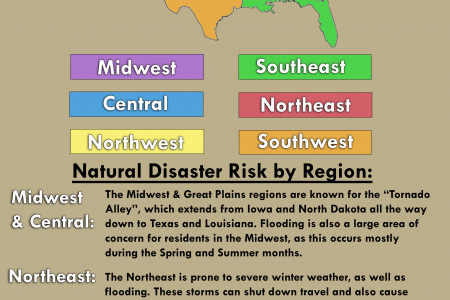 Natural Disasters In the United States - What's Your Risk? Infographic