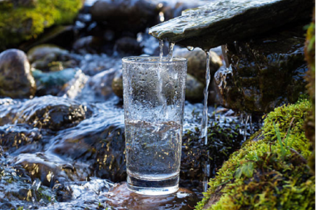 Natural drinking water. Infographic
