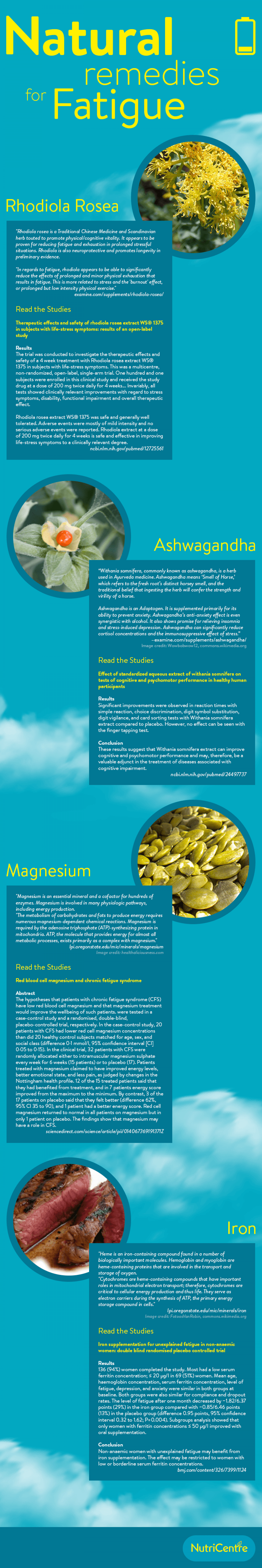 Natural Remedies for Fatigue - A Guide Infographic