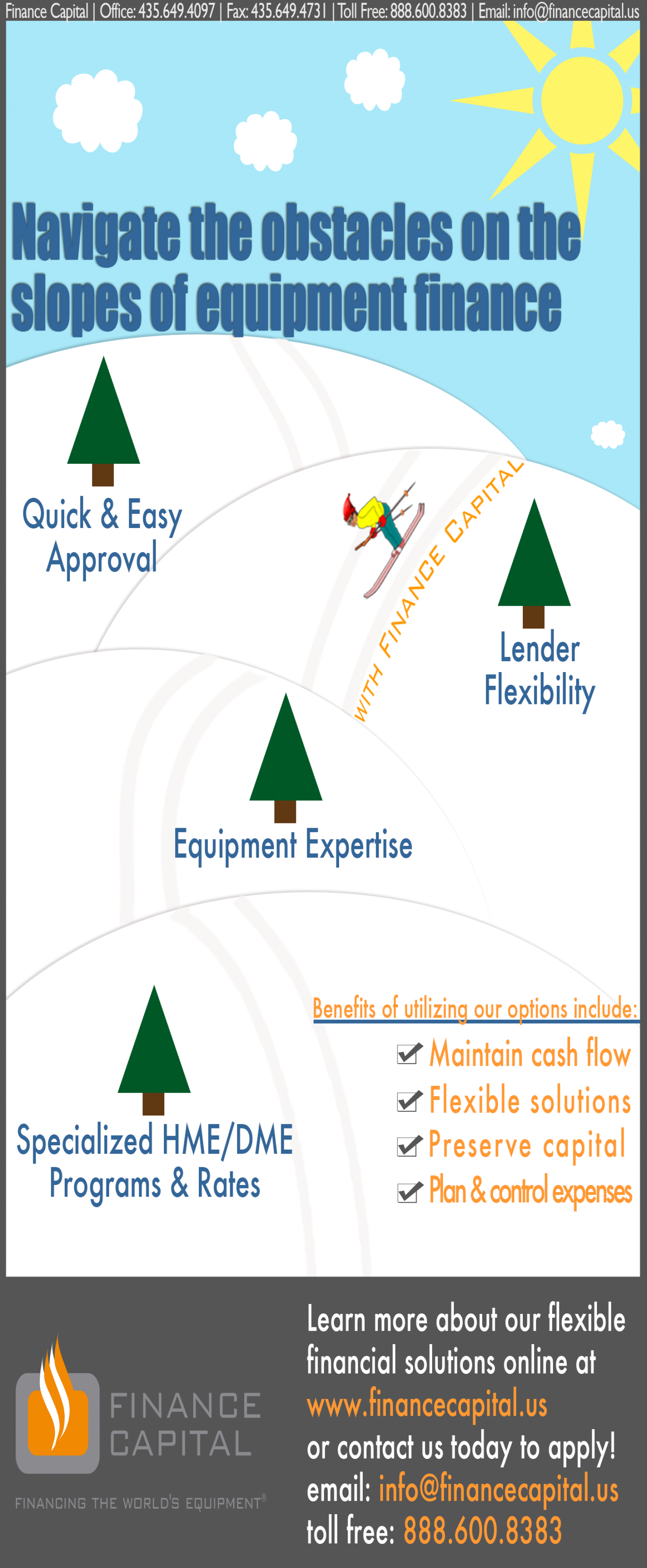 Navigate the Slopes of Equipment Finance  Infographic