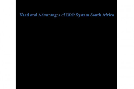Need and Advantages of ERP System South Africa Infographic