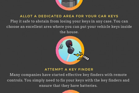Never Lose Your Car Keys with These Simple Tips Infographic