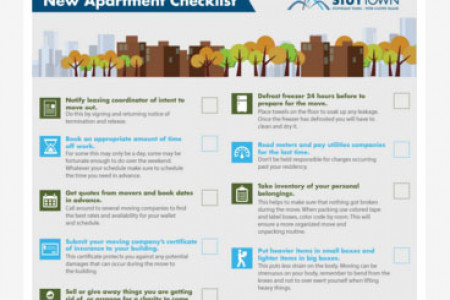 New Apartment Moving Checklist Infographic