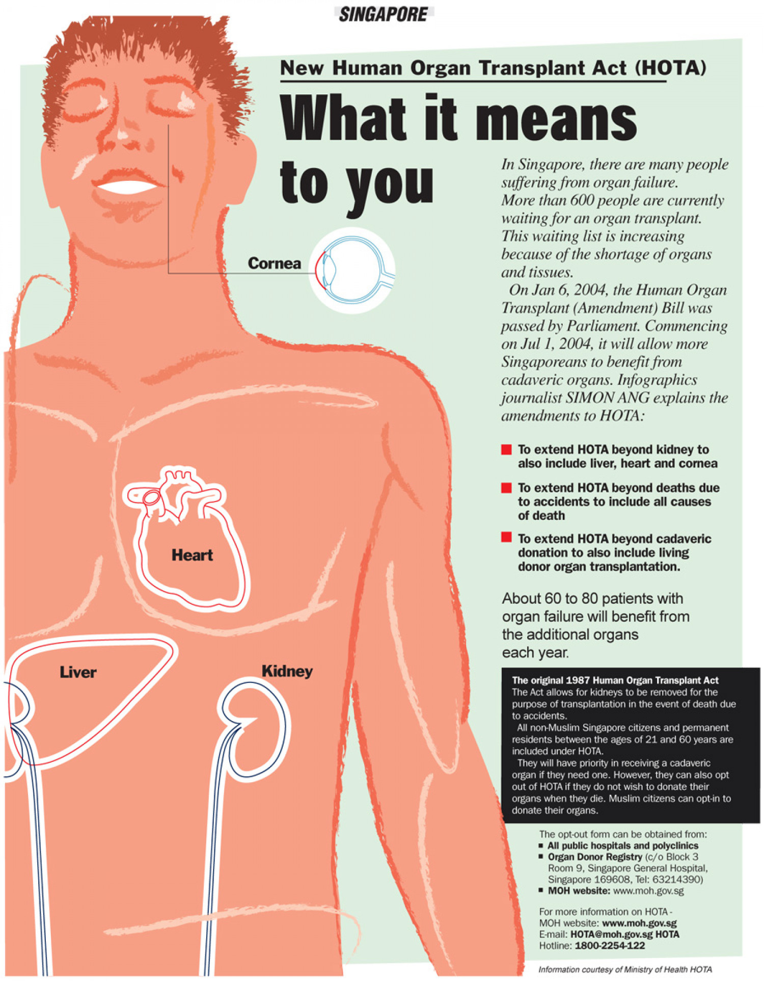 New Human Organ Transplant Act Infographic