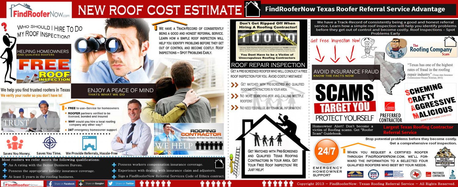 New Roof Cost Estimate Infographic