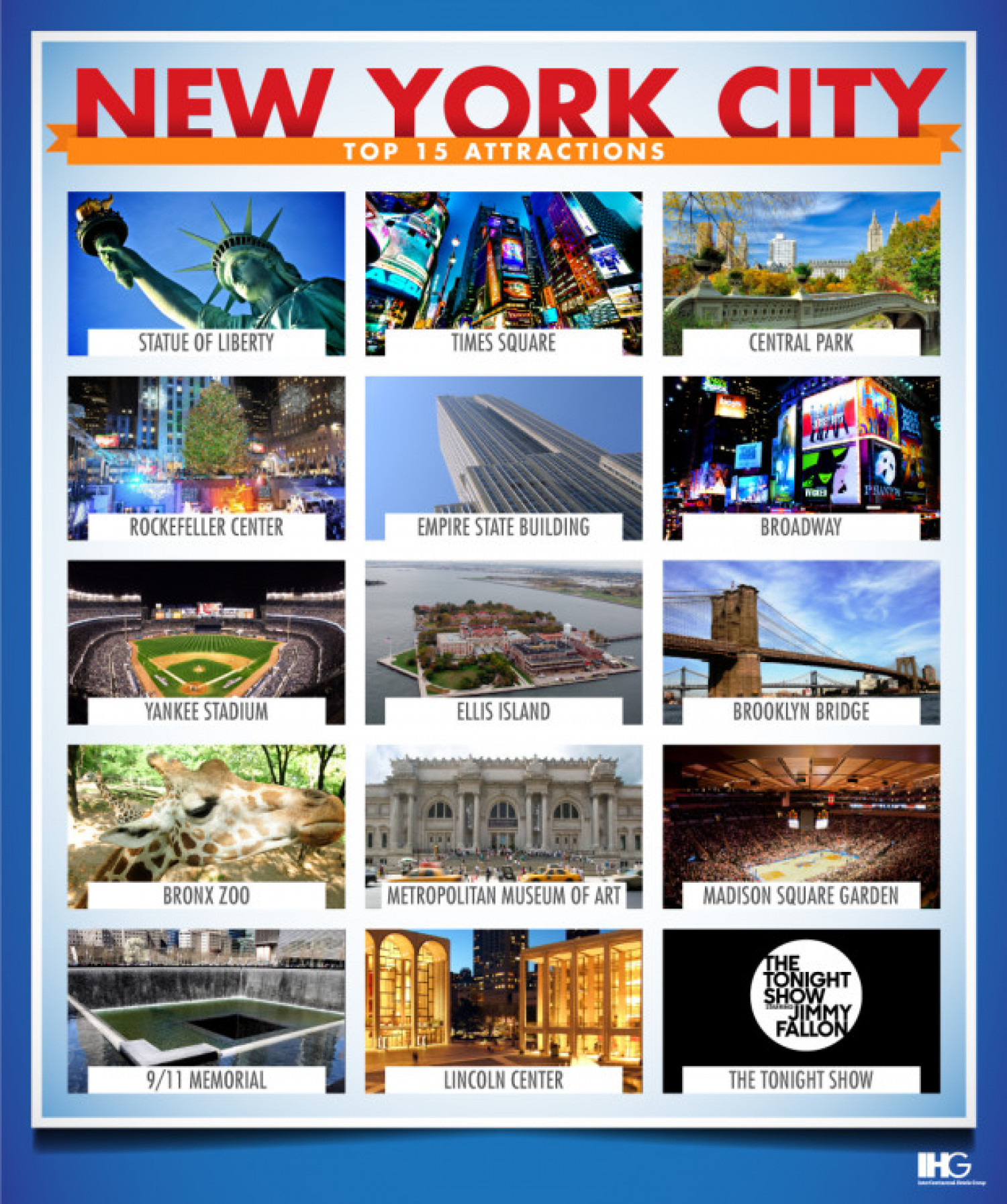 New york city s top 15 attractions for Attractions in new york new york