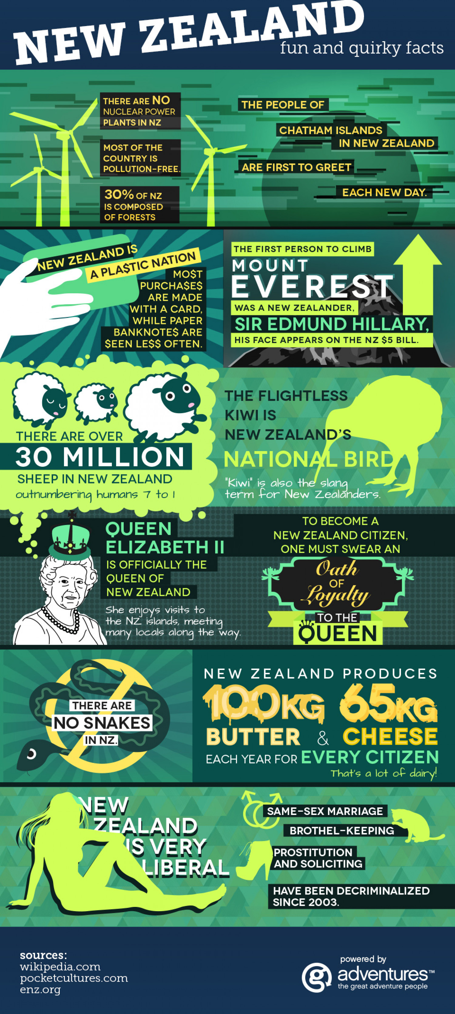 New Zealand Fun Facts Infographic