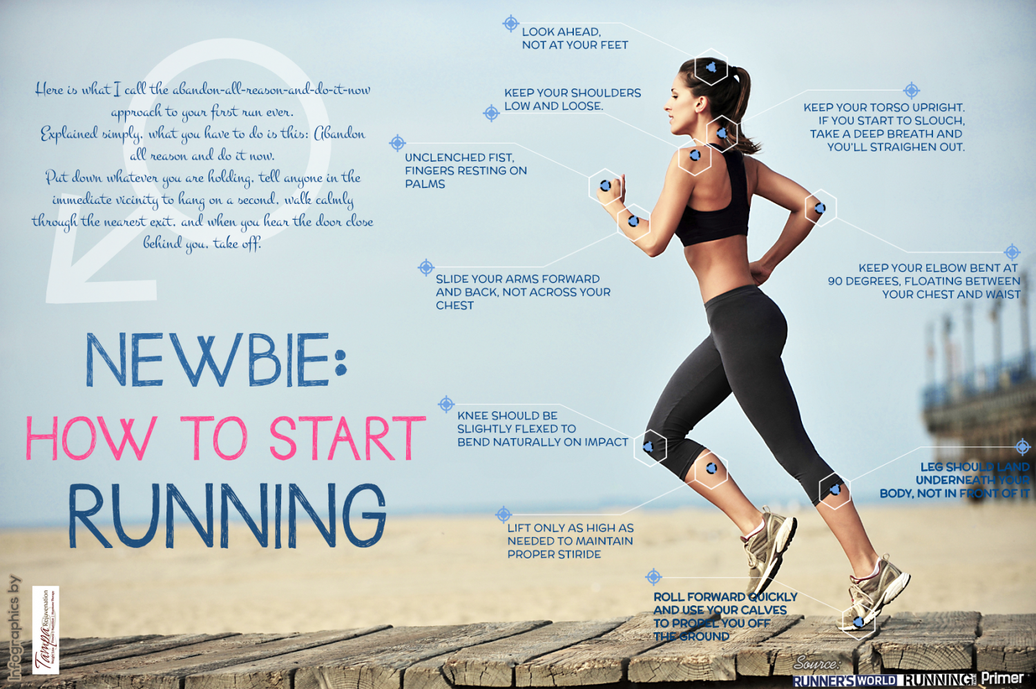Newbie: How to Start Running  Infographic