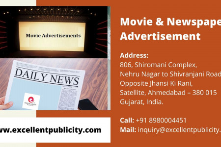 Newspaper Advertisement in India by Excellent Publicity Infographic