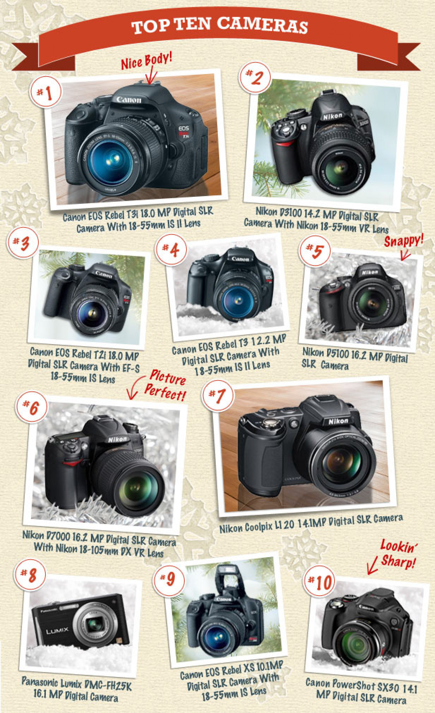 Nextag Shopping Report - Top 10 Cameras Infographic