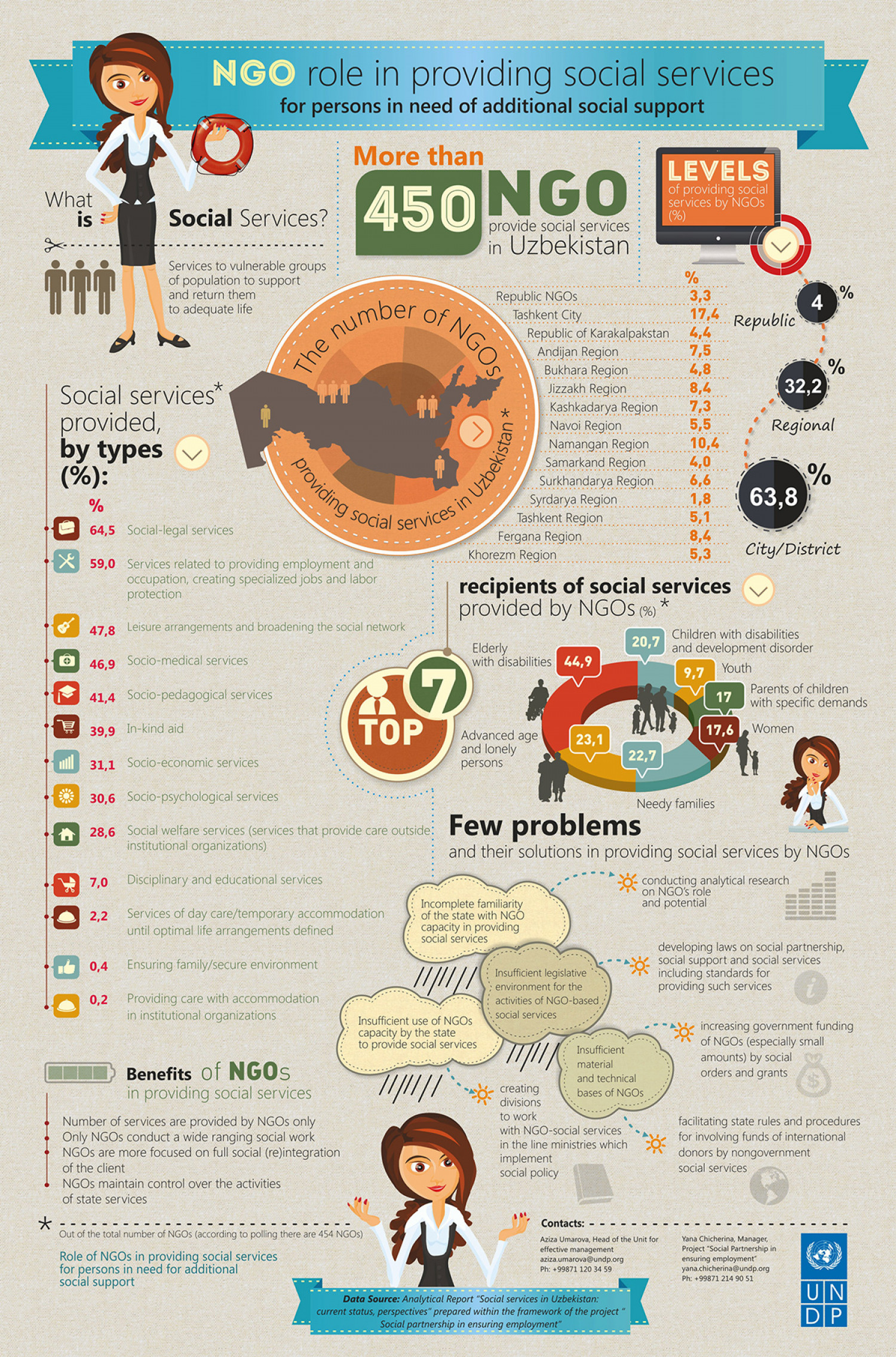 NGO Role in Providing Social Services Infographic