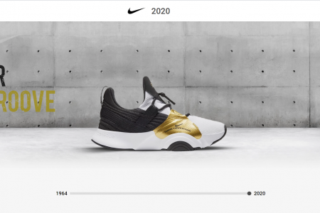 Nike - The Evolution Of Trainers  Infographic