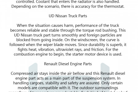 Nissan and Renault Truck Parts For Proper Functioning Infographic