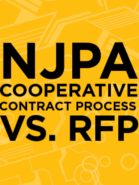 NJPA  Cooperative Contract Process vs. RFP Infographic