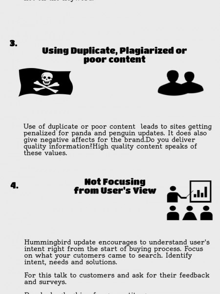Top 5 Non Affordable SEO Mistakes Infographic