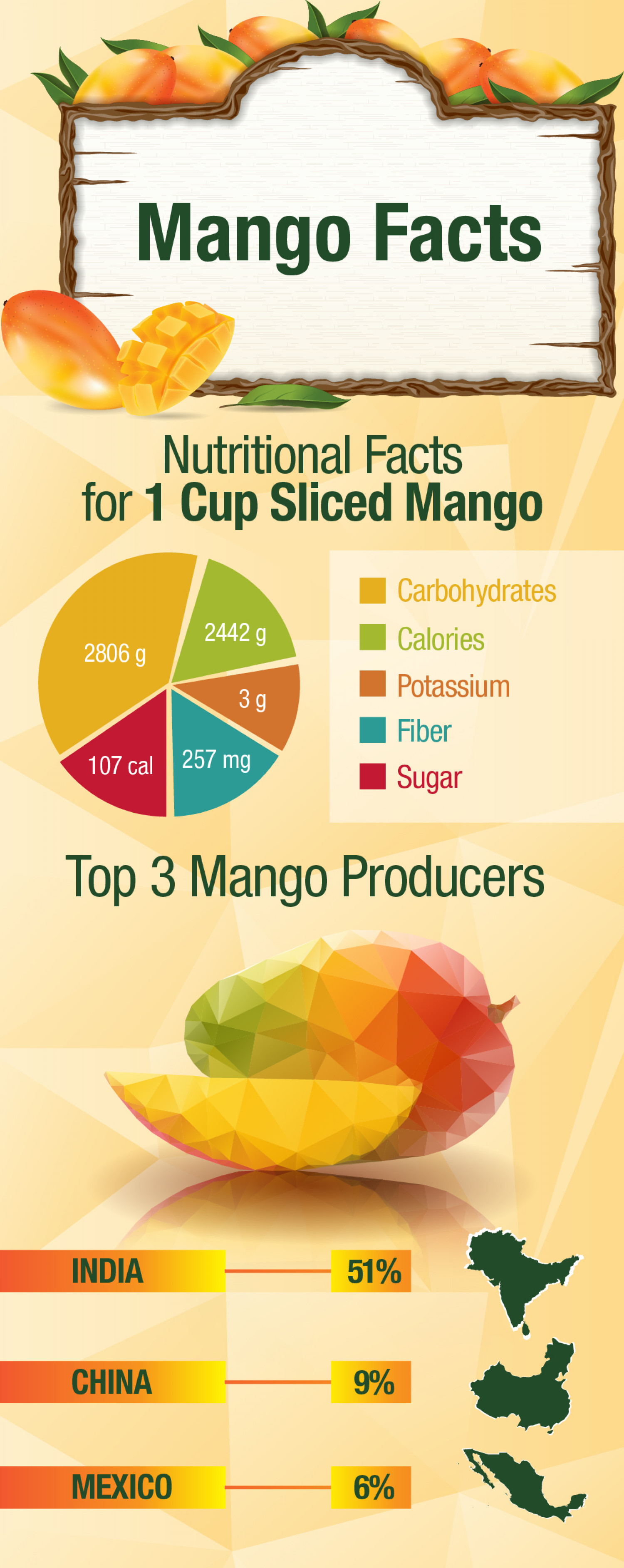 Nutritional Facts about Mangoes Infographic