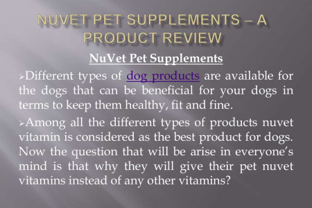 NuVet Pet Supplements – A Product Review Infographic
