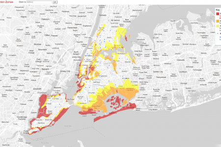NYC Sandy Evacuation Zones Infographic