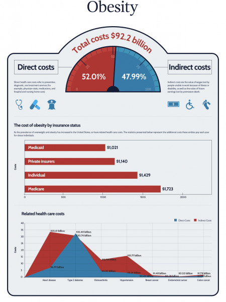 Obesity Costs Infographic