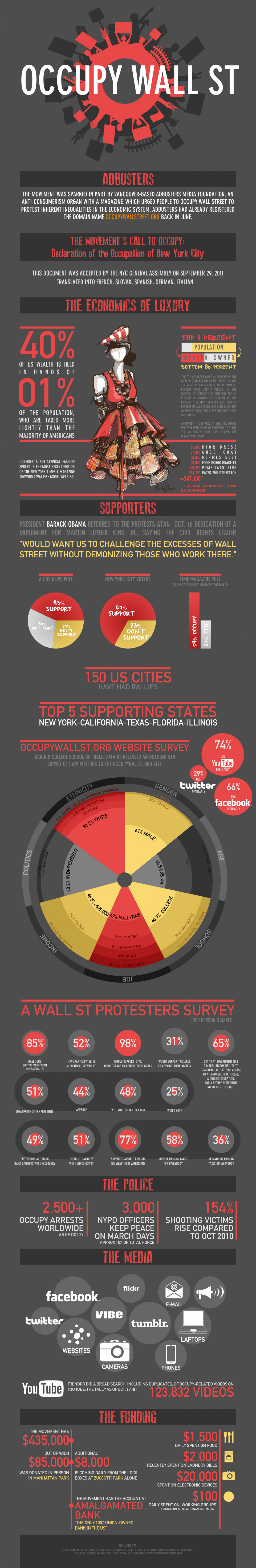 Occupy Wall Street Infographic