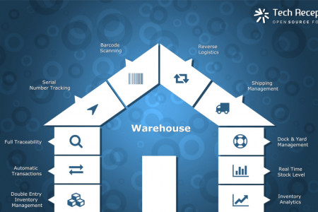 Odoo ERP Warehouse System Solution Infographic Tech Receptive Infographic