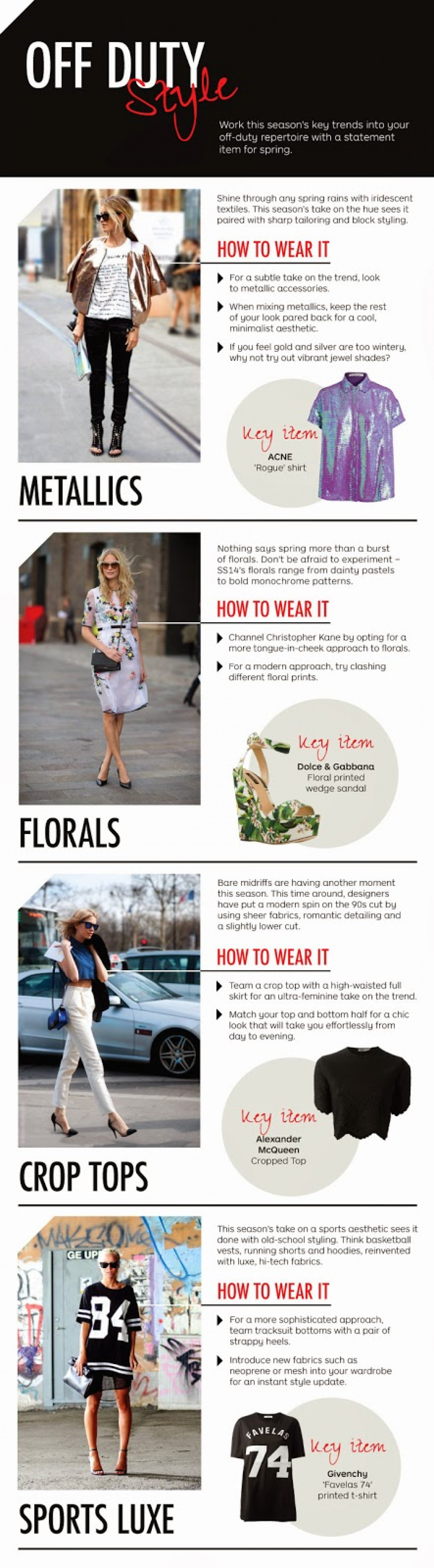 Off Duty Styles Infographic