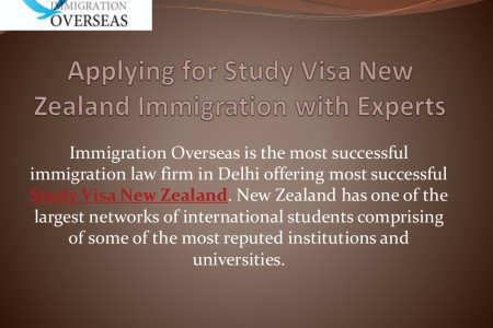Offering Study Visa for New Zealand with Immigration Consultants Infographic