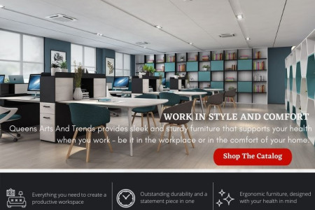 Office Furniture Collection For Every Space Infographic