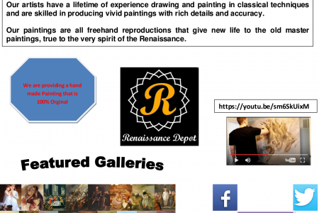 Oil Painting Reproductions Infographic