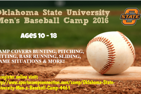 Oklahoma State University Men's Baseball Camp 2016 - SportsCampConnection Infographic