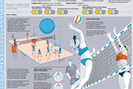Olympic Beach Volleyball Guide Infographic