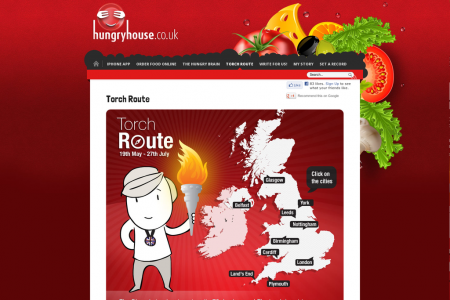Olympic Torch Route Infographic