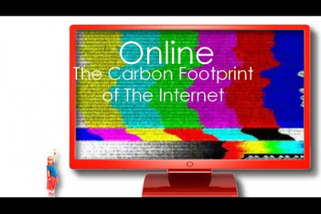 Online - The Carbon Footprint of The Internet Infographic