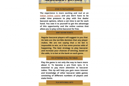 Online Baccarat in India - Play Baccarat for Real Money Infographic