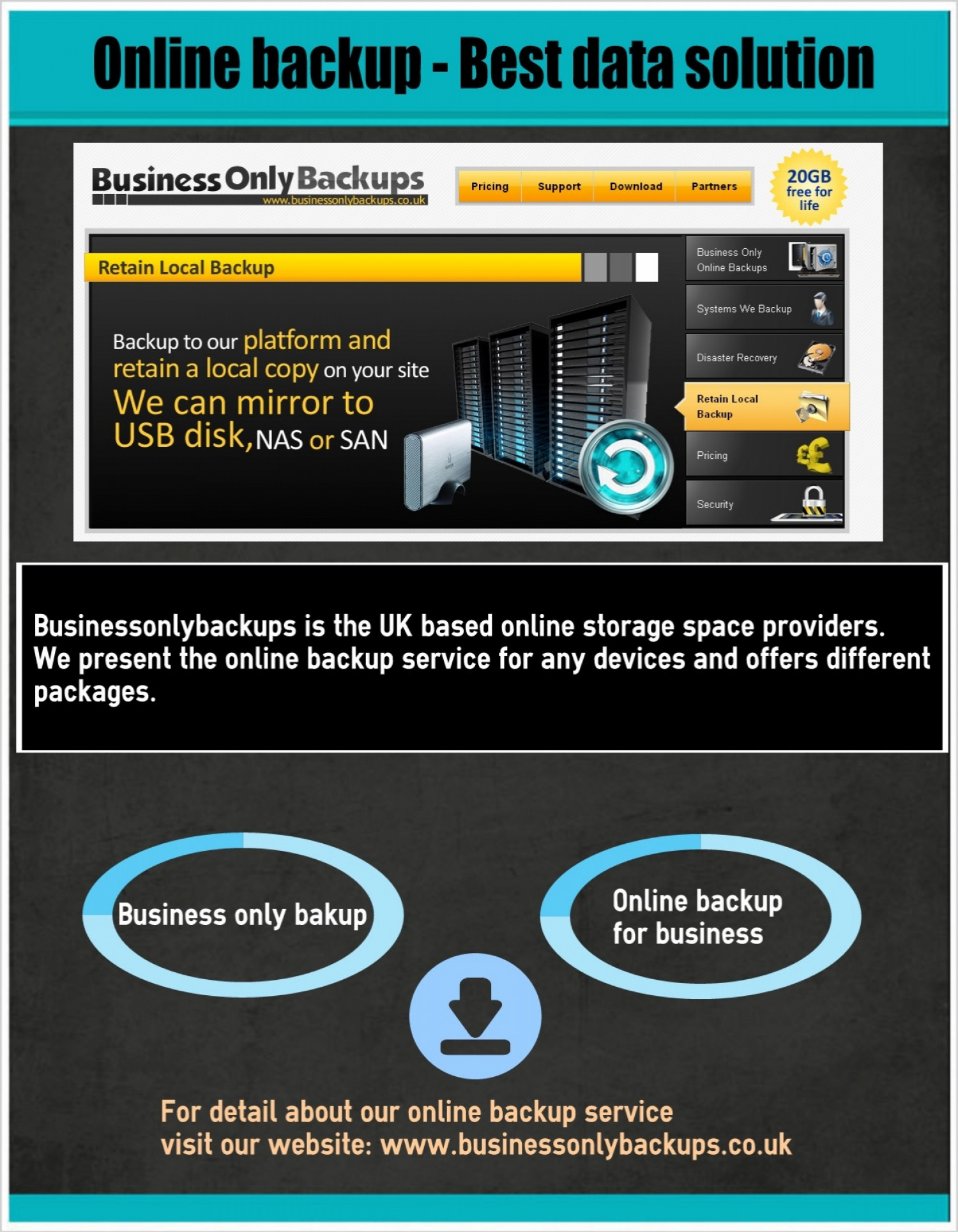 Online Backup – Best Data Solution Infographic