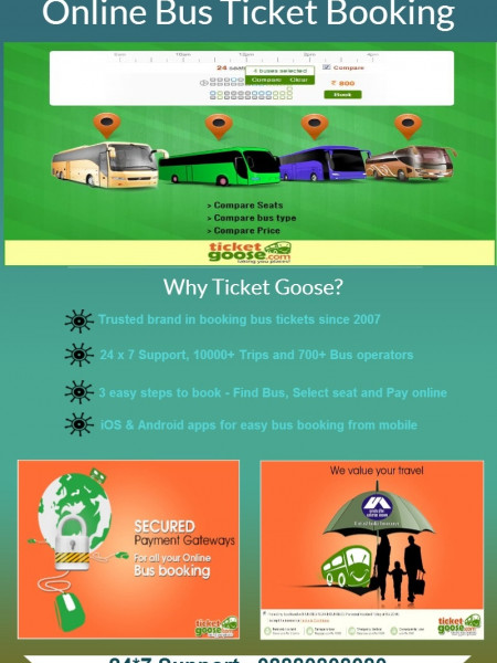 Online Bus Ticket Booking Infographic