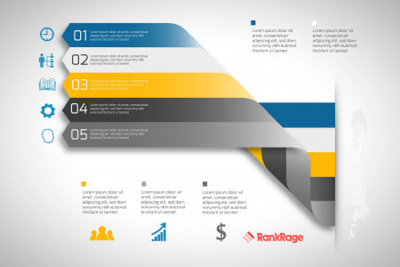 Online Marketing and SEO Action Plan and Goals Lorem Ipsum Infographic